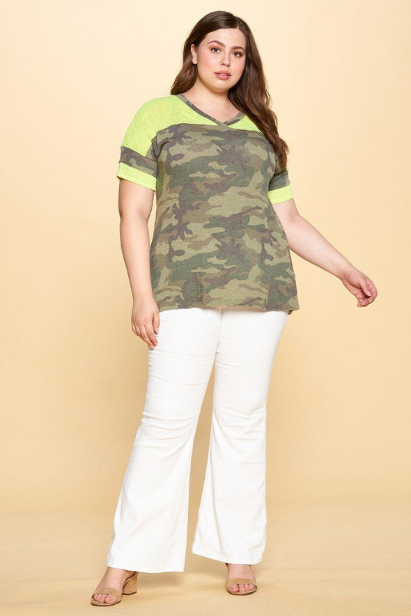 Beverly Camo Top