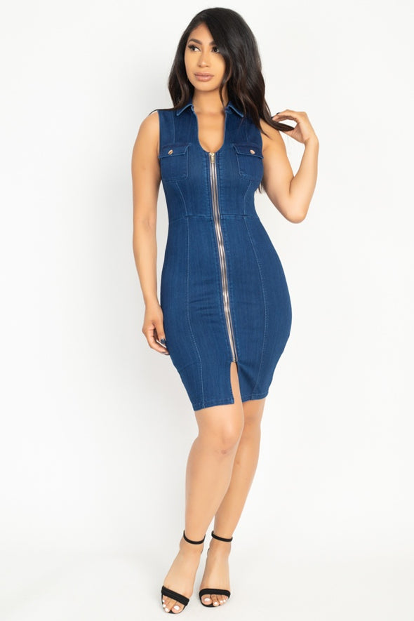 Asha Denim Mini Dress