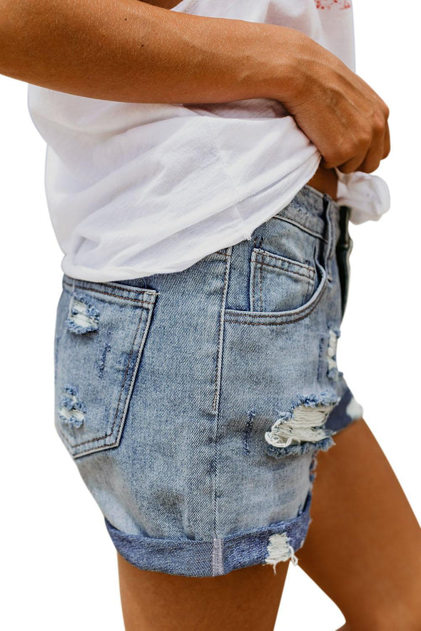 Kinsley Distressed Jean Shorts