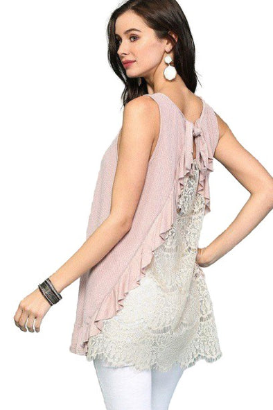 Gianna Sleeveless Back Lace Top