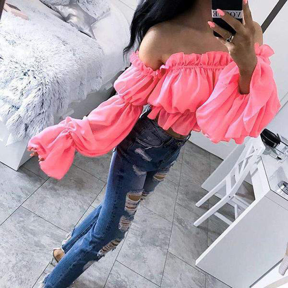 Top Cropped Neon Decote  Ciganinha - Espavo store