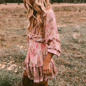 Vestido Boho Chic Flores Do Campo - Efashion