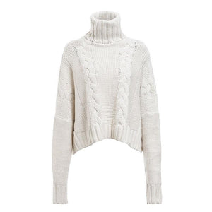 Pulôver Turtleneck Crop Sweater