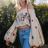 Blusa Boho Chic Bordada - Efashion
