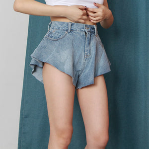 Shorts Jeans Ruffled - Espavo store
