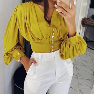 Blusa  Yellow Love Manga Lanterna
