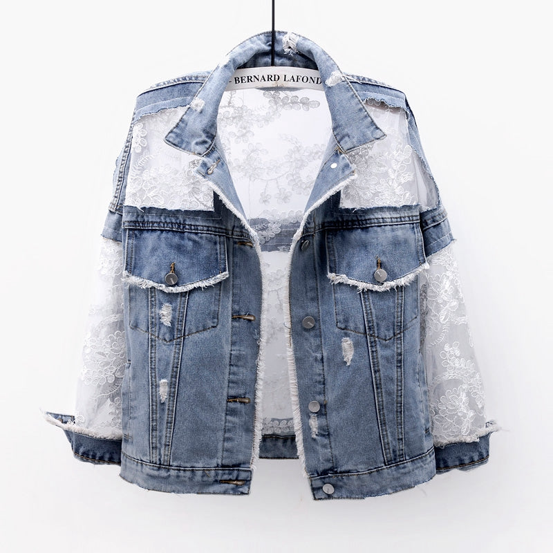 Jaqueta Patchwork Sexy Denim