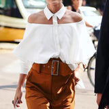 Camisa Fashion Off Shoulder