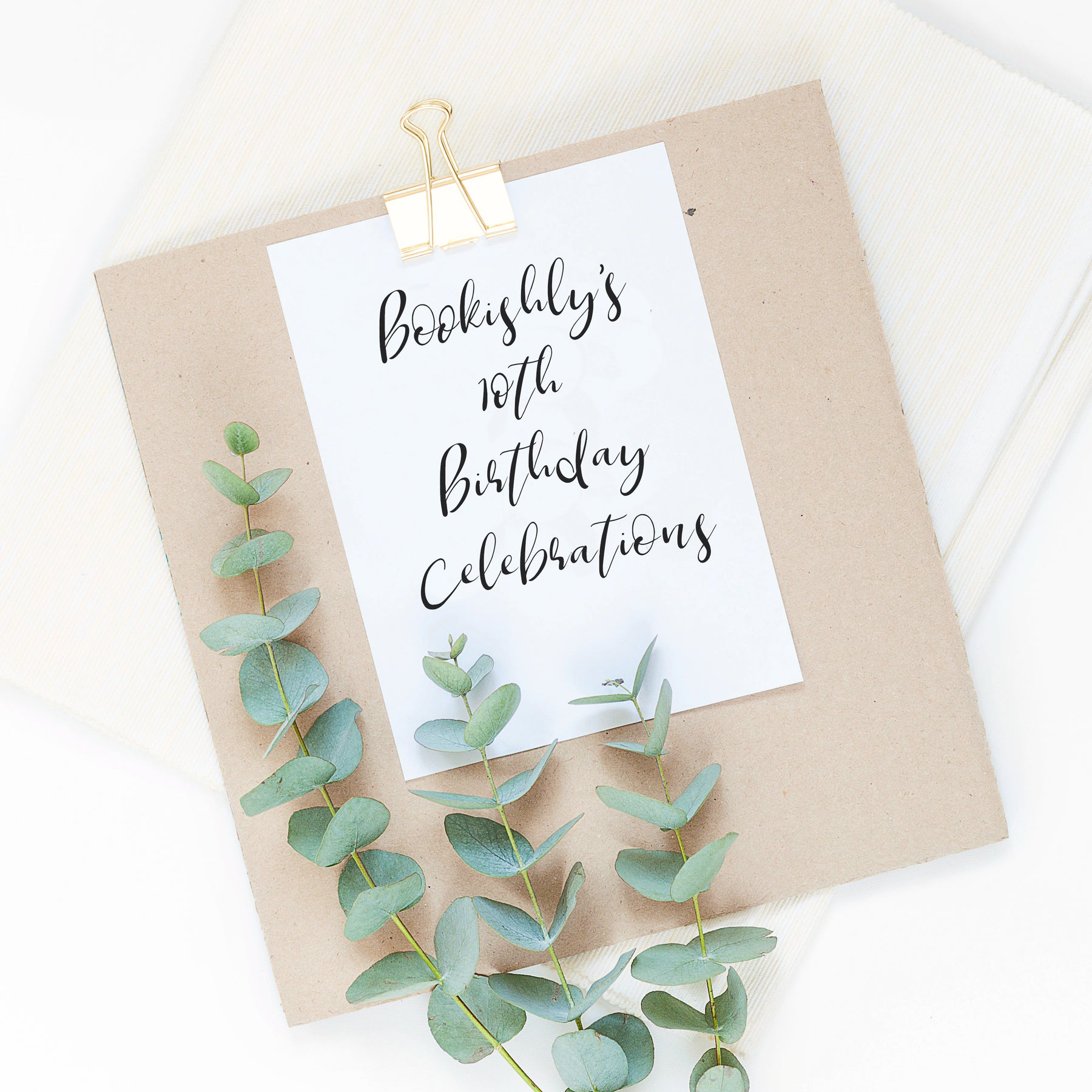 Bookishly's Birthday Celebration - We're Turning Ten!