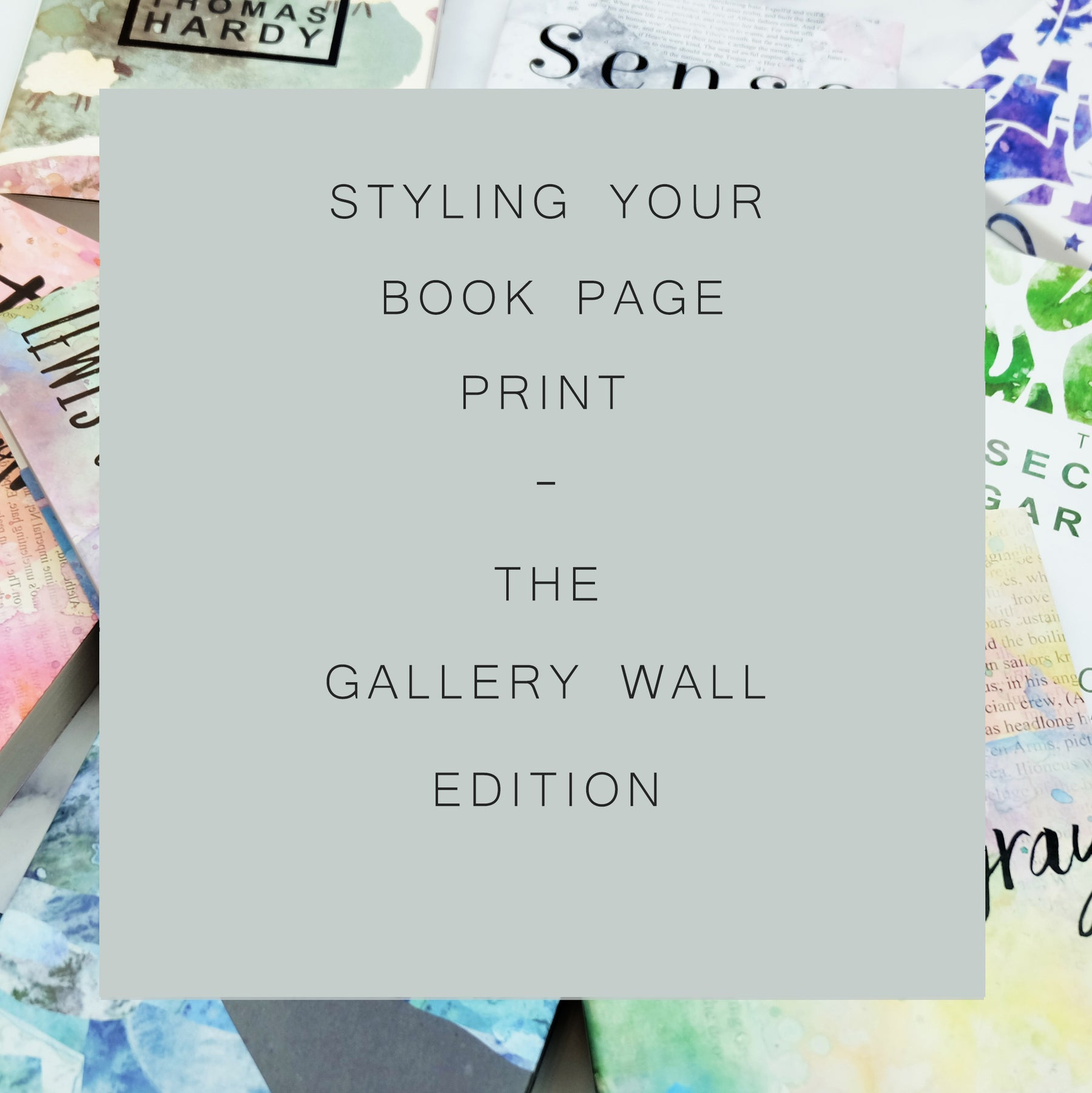Styling Your Book Page Print - The Gallery Wall Edition