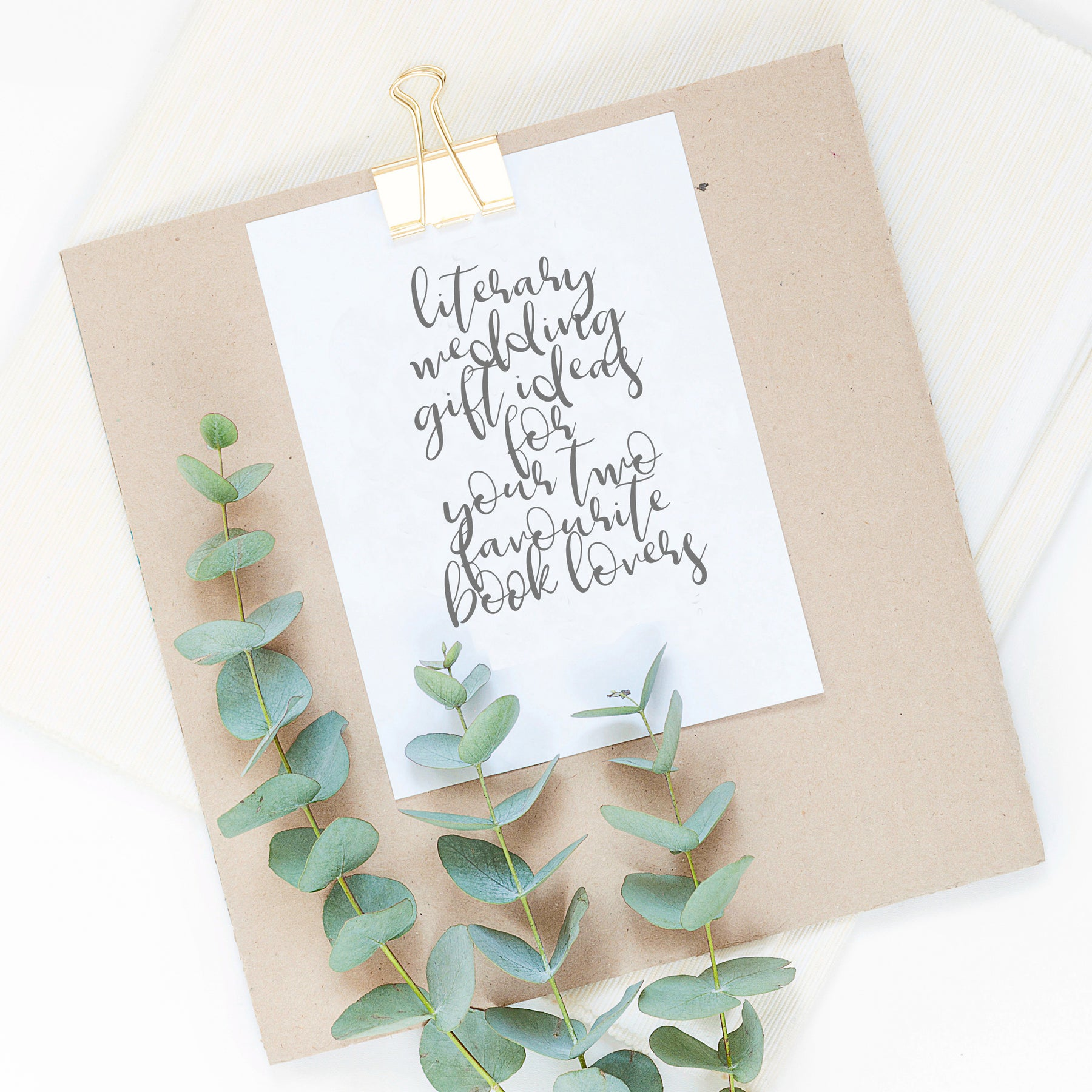 Literary Wedding Gifts Ideas For Your Two Favourite Book Lovers