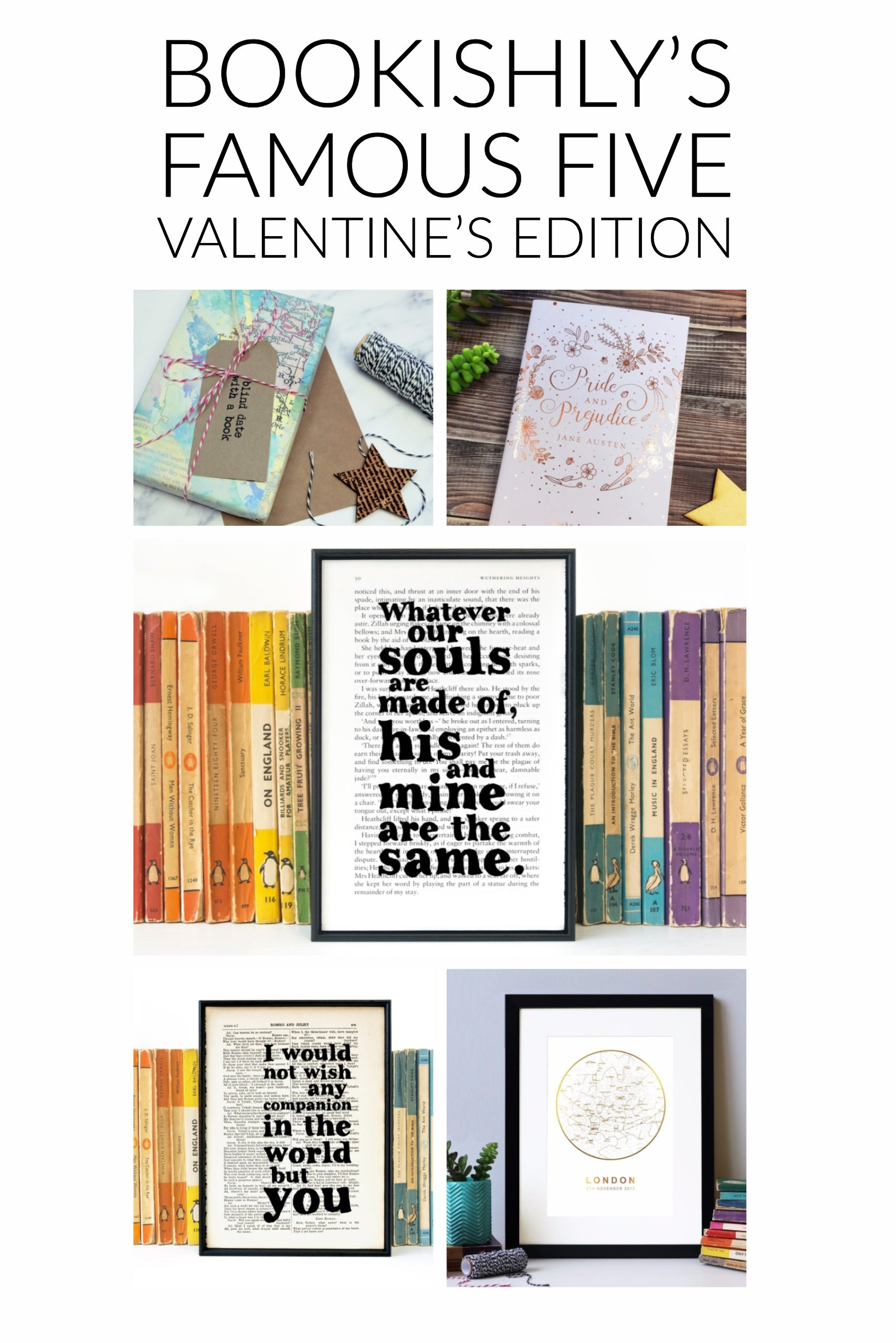 Bookishly's Famous Five - Valentine's Edition
