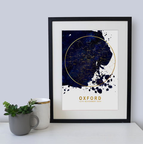 PERSONALISED_FOILED_WEDDING_GIFT_STAR_CHART_PRINT