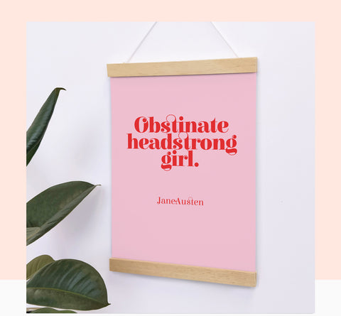 Obstinate headstrong girl.