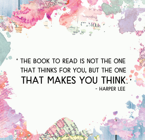The book to read is not the one that thinks for you...