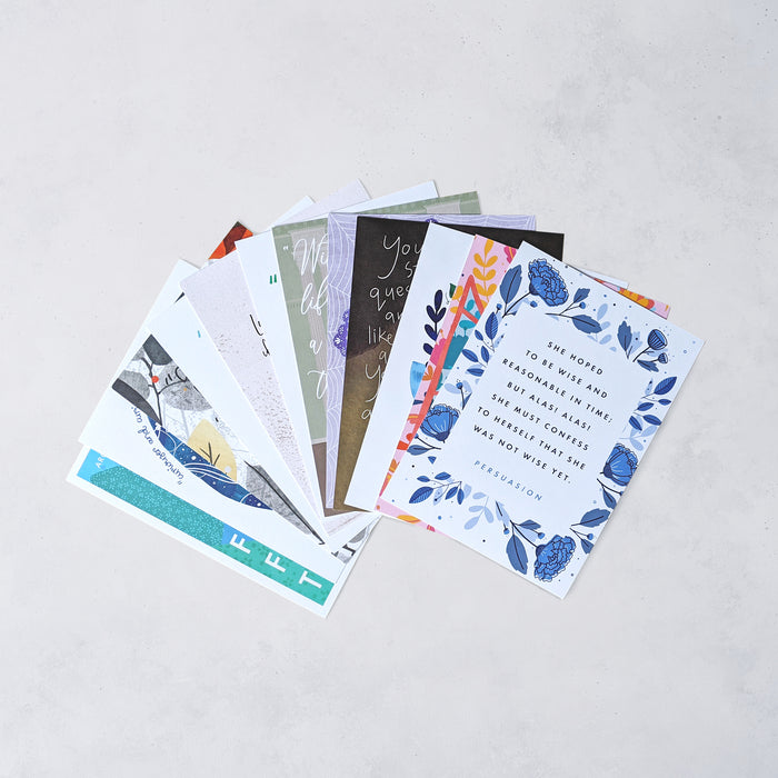 Classic Book Quote Postcard Set - 12 Pack