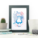 Set Of Three Pastel Alice in Wonderland Nursery Prints