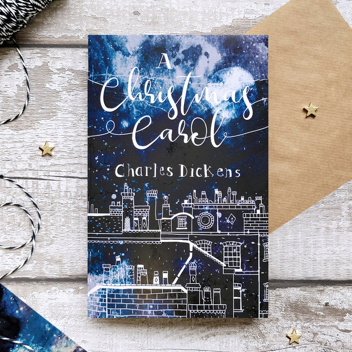A Christmas Carol by Charles Dickens with Exclusive Watercolour Bookishly Cover