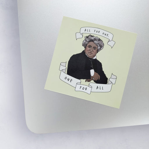 Alexandre Dumas 'All For One' Vinyl Laptop Sticker