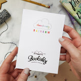 Rainbow Alice in Wonderland 'Wildflower'  Card