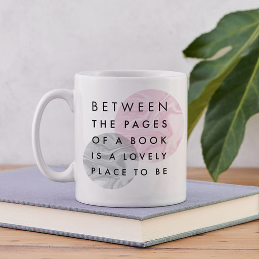 Literary Marble 'Between The Pages' Book Lover Mug