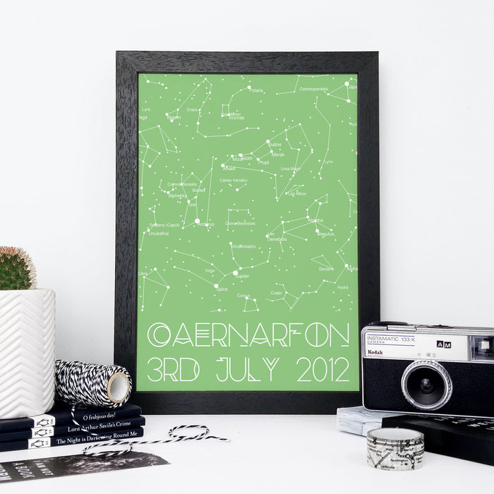 Personalised Colour Block Star Chart Print
