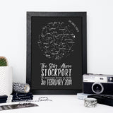 Original Personalised Map of the Stars Print