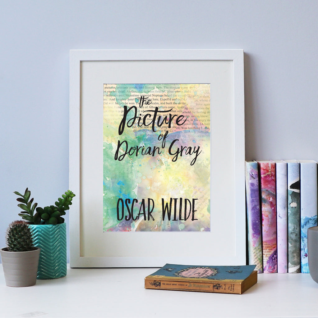 """The Picture of Dorian Gray"" Oscar Wilde Art - Book Cover Print"