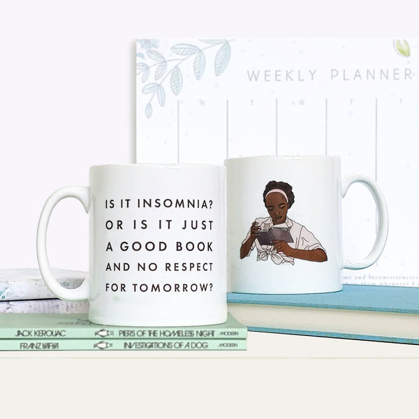 Relatable 'Is It Insomnia Or Just A Great Book...?' Funny Book Lover Mug