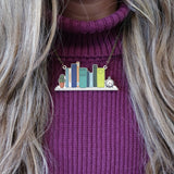 Statement Bookshelf Necklace Literary Jewellery