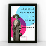 Christabel Pankhurst Quote Print