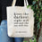Literary 'Darkest Night' Tote Bag