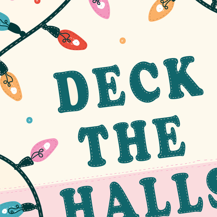 "Festive ""Deck the Halls"" Christmas Pennant Art Print"