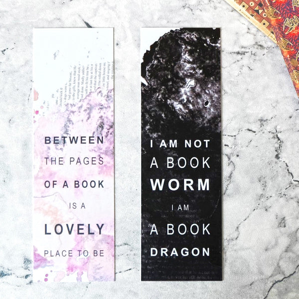 Set Of Two Book Lover Bookmarks