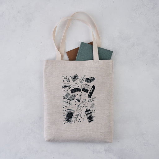 reader's favourite things book lover tote bag