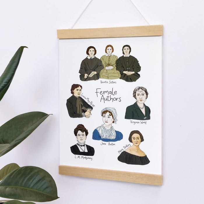Female Authors - Framed Art Poster Print