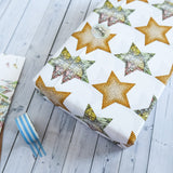 Wrapping Paper Sheets - Map And Book Page Stars Design