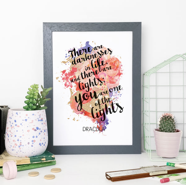 """Come and see us if you feel like it, life is too short to send out invitations."" Book Lover Frames Print Watercolour"