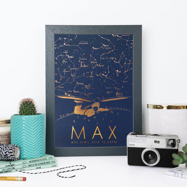 Childrens Personalised Star Map Unique Gift Ideas