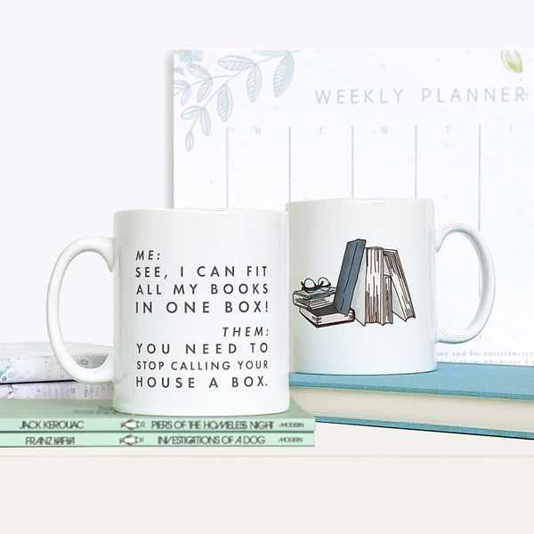 Funny 'I Can Fit All Of My Books...' Relatable Book Lover Mug