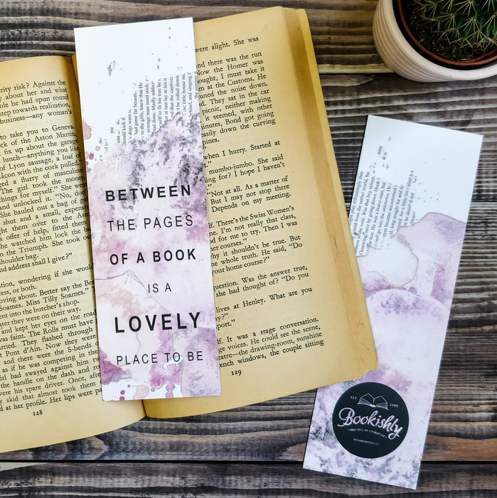 """Between the pages of a book is a lovely place to be."" Bookmark for Book Lovers"