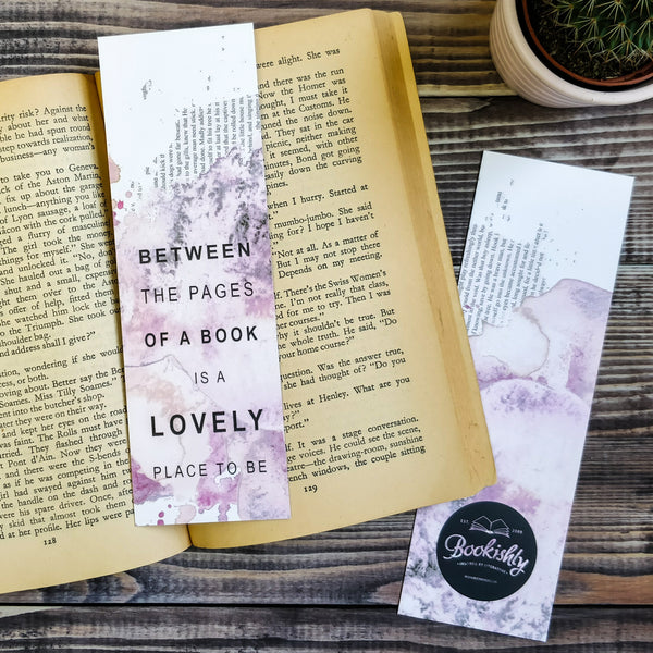 Book Lover 'Between The Pages Of A Book' Literary Quote Bookmark