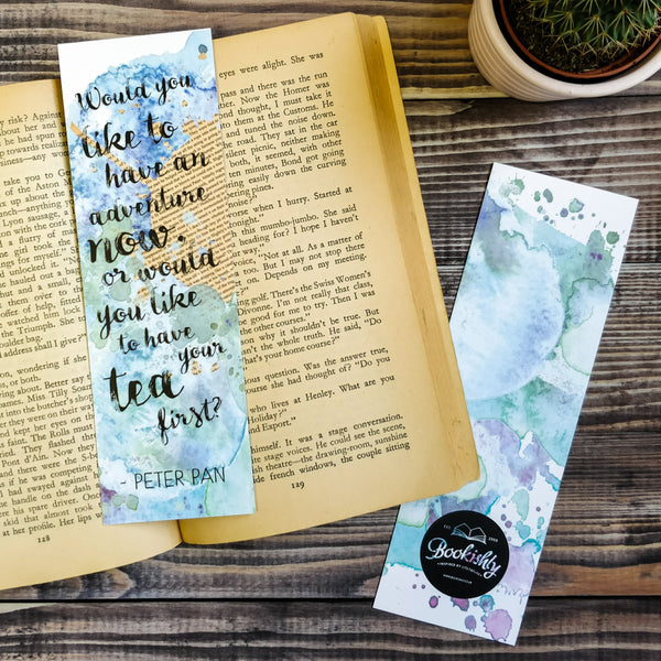 """Would you like to have an adventure now, or would you like to have your tea first?"" Bookmark Literary Gifts for Book Lovers"