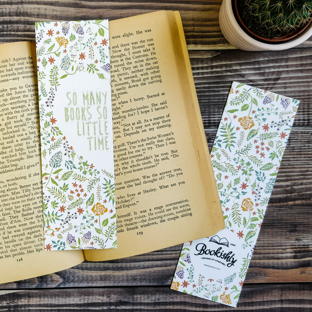 """So many books, so little time."" Bookmark Literary Gift Ideas"