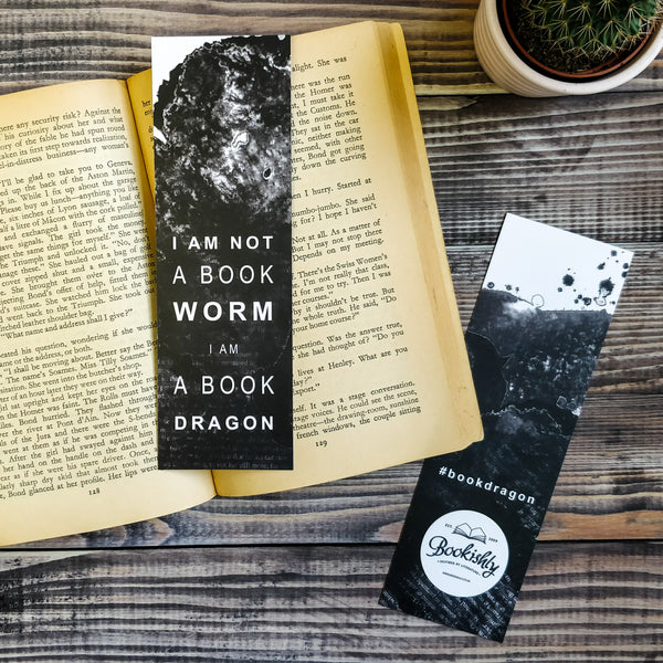 """I am not a bookworm, I am a book dragon."" Bookmark for Book Lovers Literary Gifts"