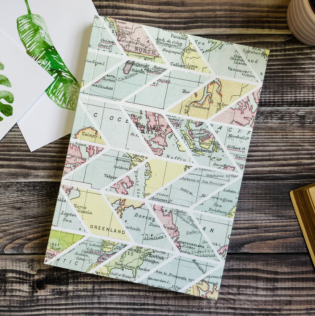 Travel journal writing notebook chevron pattern map desig bookishly travel journal writing notebook chevron pattern and world map design gumiabroncs Choice Image