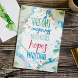 """Dreams, imaginings, meditations, hopes, reflections."" Notebook Gift Ideas"