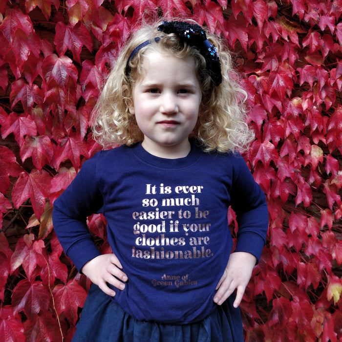 Anne of Green Gables 'Easier to Be Good' Children's Sweatshirt