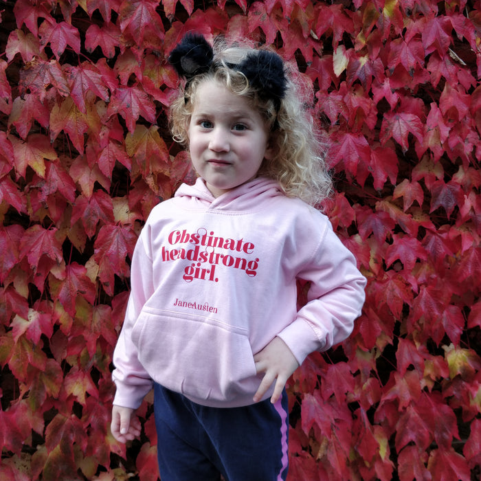 "Feminist Children's Clothing ""Obstinate Headstrong Girl"" Hoody"