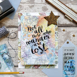 "Travel Journal - ""Not All Those Who Wander Are Lost"" J.R.R Tolkien Quote"